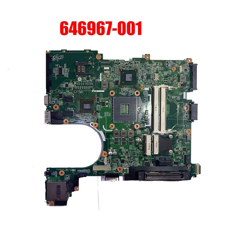 شحن مجاني 646967-001 لوحة رئيسية لأجهزة HP الكمبيوتر المحمول EliteBook 8560P 6560B اللوحة الرئيسية QM67 DDR3 HD 6470M