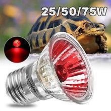 25/50/75/100W UVA+UVB Reptile Lamp Bulb Turtle Basking UV Light Bulbs Heating Lamp Amphibians Lizards Temperature Controller