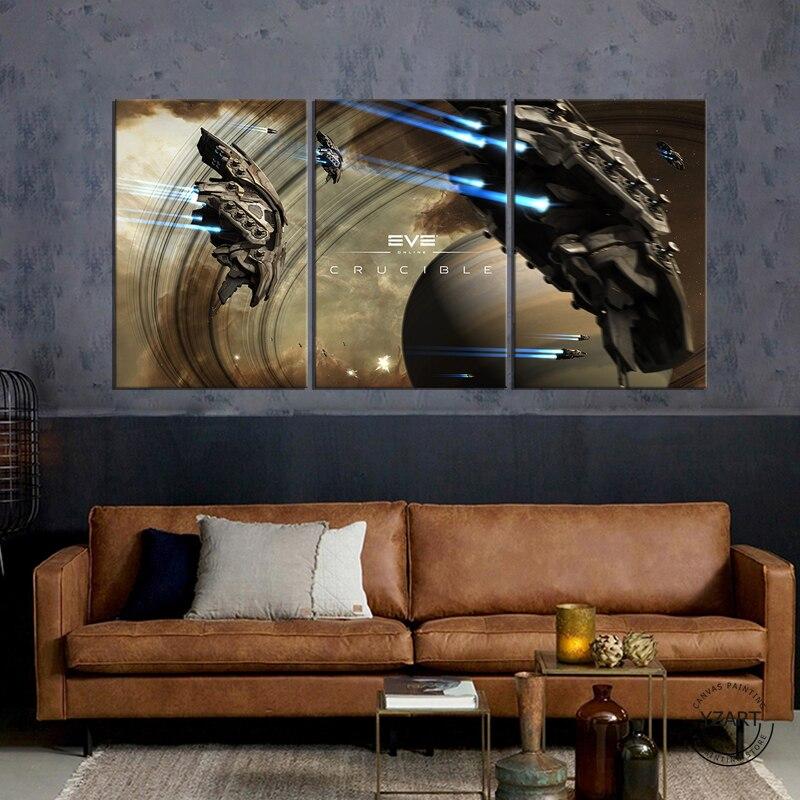 Amarr-nave espacial EVE en línea, fantasía, videojuego, decoración de pared fresca, Póster...