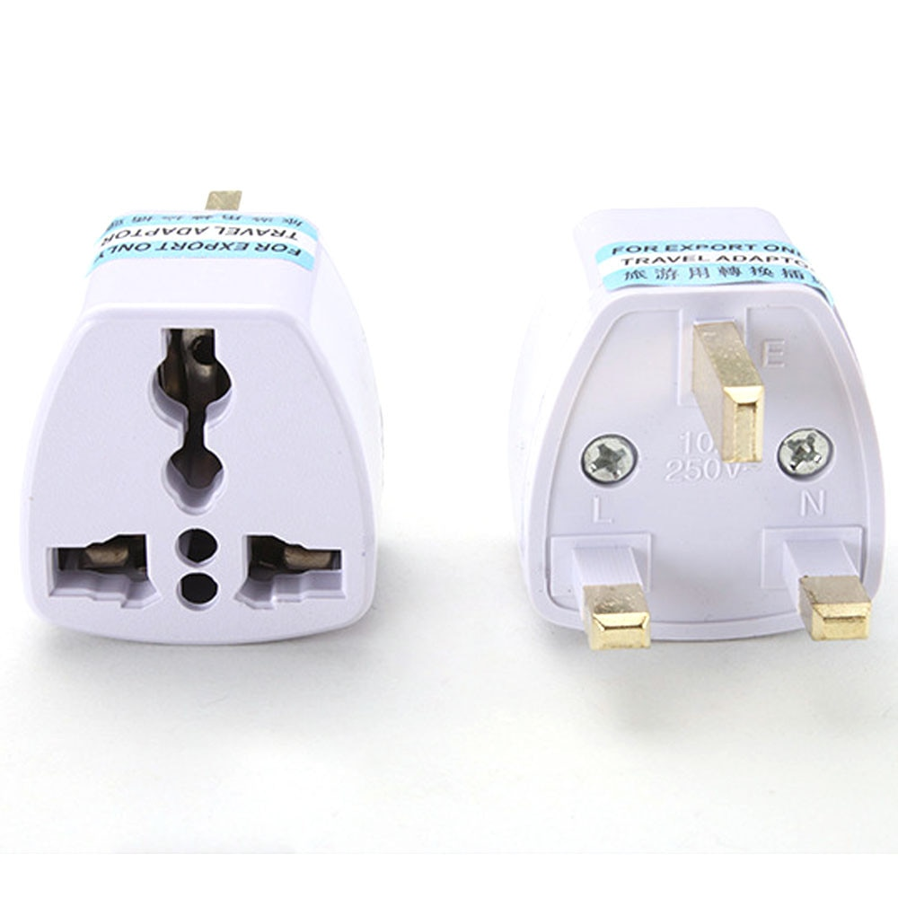 Portable Universal US EU AU Converter to UK HK AC Travel Power Plug Charger AdapterPower Plug Enchufe