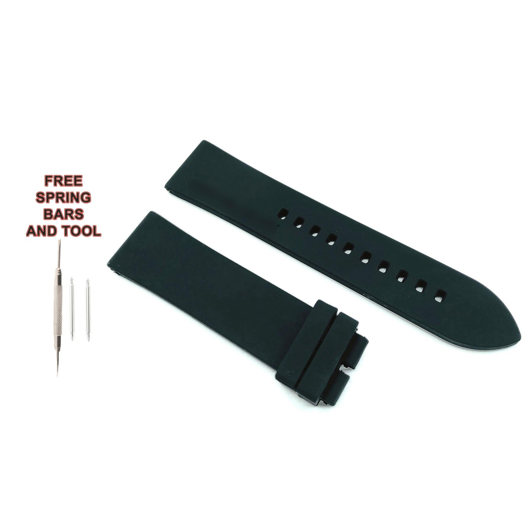 Correa de reloj de goma negra 212ZTD Compatible con E. Armani Luigi AR11071 22mm 574ARM