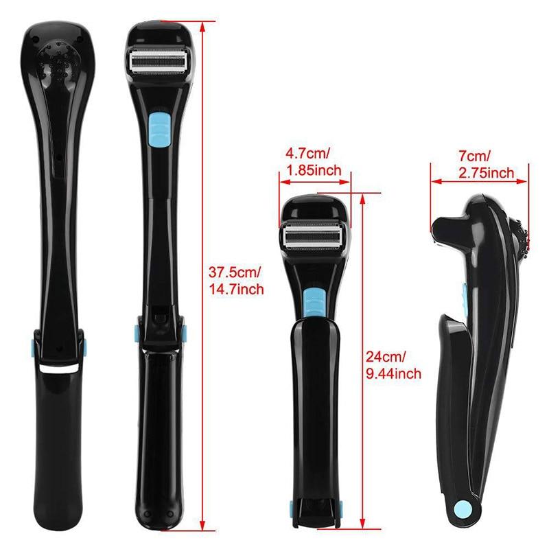 Men Electric Back Hair Shaver 180 Degree Foldable Long Handle Razor Shaving Machine Body Hair Clipper Epilator Hair Removal Tool enlarge