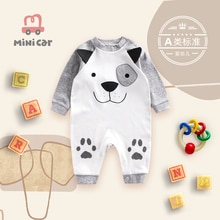 Car children BABY BODYSUIT baby romper spring and autumn out cartoon cute fashion climbing clothes