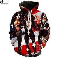 hx newest heavy metal kiss rock band 3d print men women tracksuit hoodie unisex harajuku hip hop style tops drop shipping