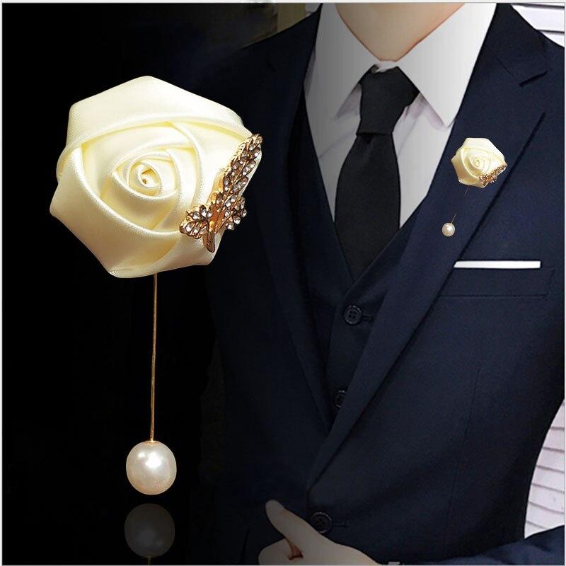 Lky fr boutonniere broche corsage pinos para mulher vermelho casamento boutonniere padrinhos prom terno casamento acessórios