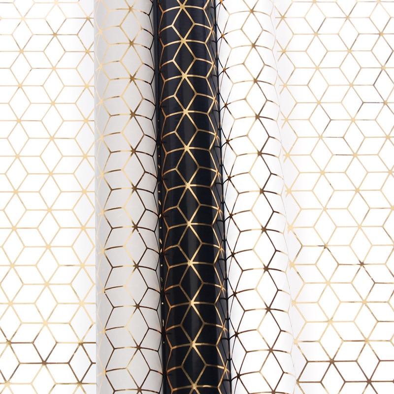 10 Uds nuevo papel de regalo geométrico estampado en caliente rayas boda...