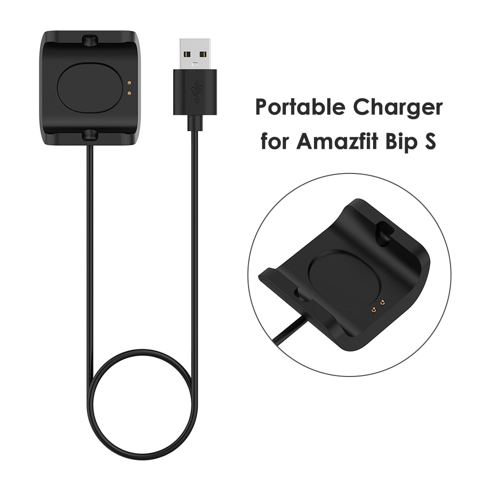 1m Fast Charging Cable Watches Cord Outdoor Shopping Ornaments for Amazfit Bip S A1805 A1916 Smartwatch Accessories