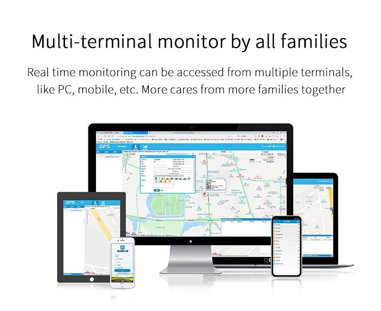 4G GPS Tracking Pendant V45 For Kids Elder Mini GPS Personal Tracker Alarm Talking Clock Waterproof Red Color enlarge
