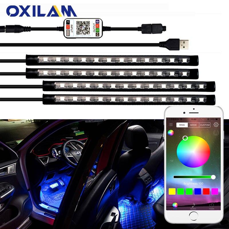Освещение для салона автомобиля, атмосферное освещение для Geely Atlas Emgrand ec7 x7 gc6 gc5 gc9 gc2 Boyue, декоративная лампа, RGB, приложение, управление, светодиодная лента