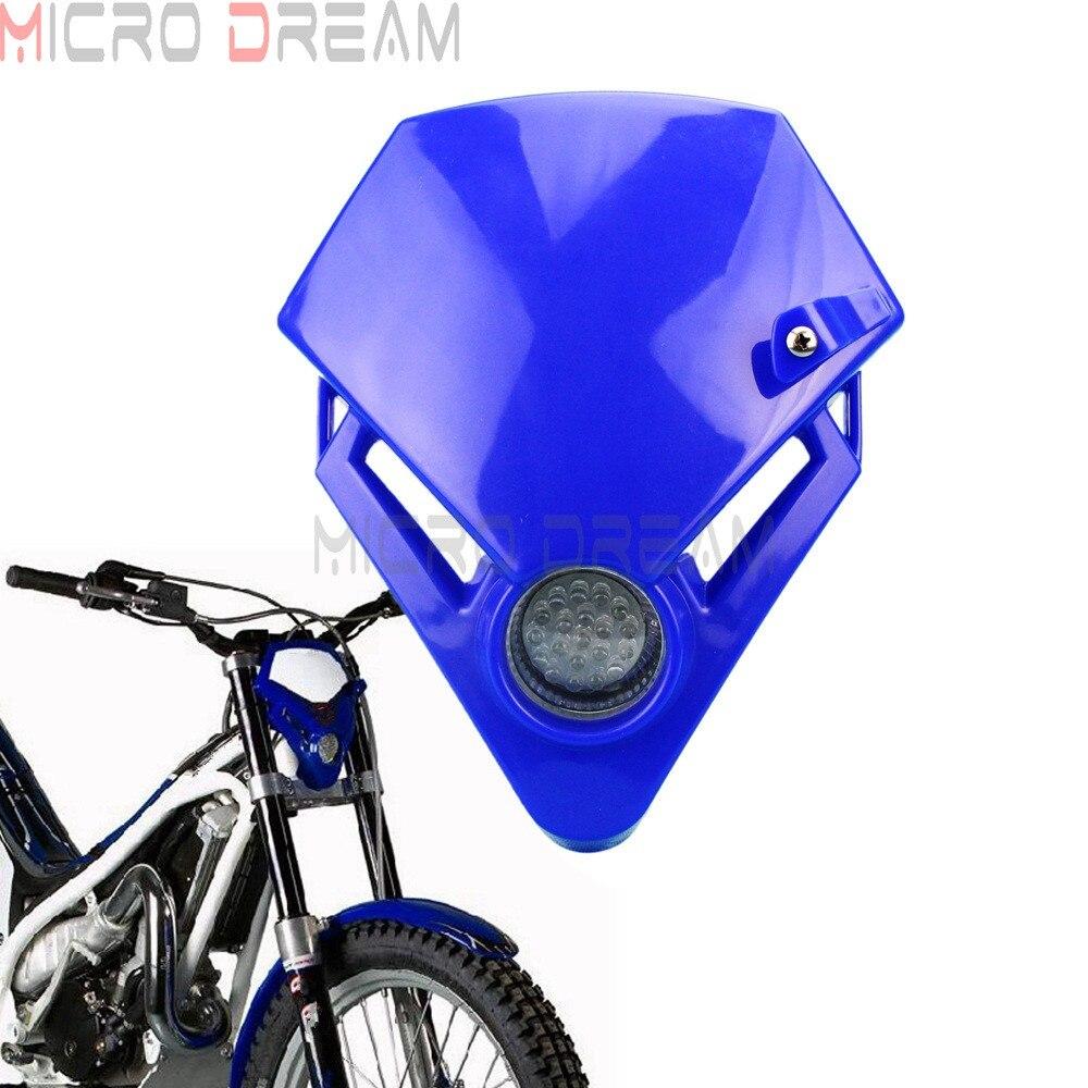 Faro LED Universal para moto de carreras, luz delantera para Motocross, TXT...