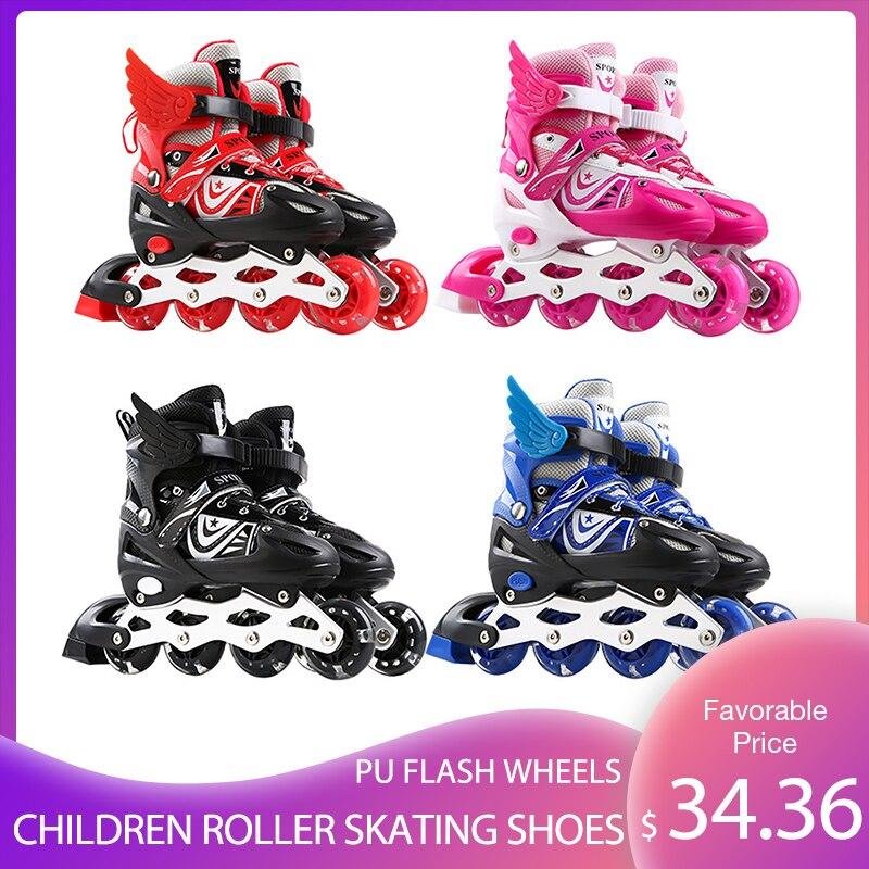 حذاء تزلج بعجلات الأطفال الأسطوانة أحذية التزلج أحذية رياضية مع مضيئة عالية مرنة عجلة من البوليوثيرين عجلات فلاش هدية رائعة للأطفال
