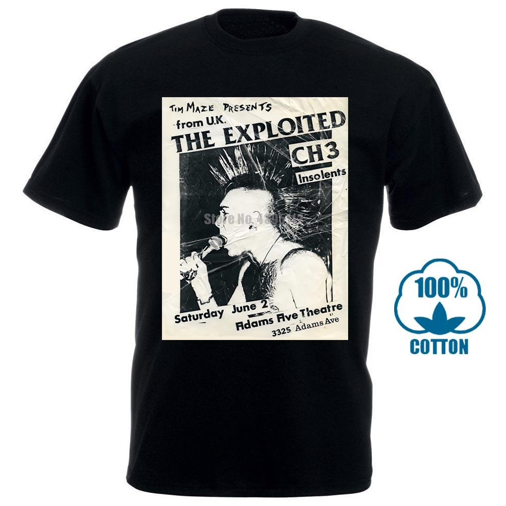 La camiseta explotada Uk Subs Agnostic Front descarga Punk Rock gráfico Tee 011403