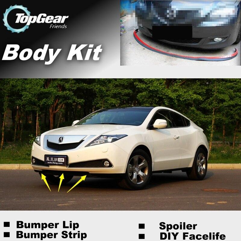 Para Acura ZDX Advance parachoques labios/alerón frontal para los Fans de TOPGEAR coches Tuning View/kit de carrocería Top Gear/Strip Skirt