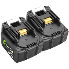 2 pièces 14.4V 5.0Ah Rechargeable Li-ion batterie pour Makita 14V outils électriques 5000mAh Batteries BL1460 BL1430 1415 194066-1
