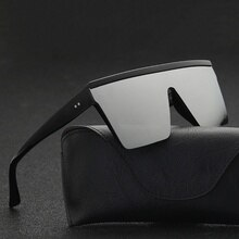 2021 Vintage Male Flat Top Sunglasses Men Brand Black Square Shades UV400 Gradient Sun Glasses For M