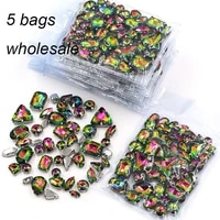 new arrival wholesale 5 bags mixed shape sew on glass crystal rainbow rhinestones for clothingdress