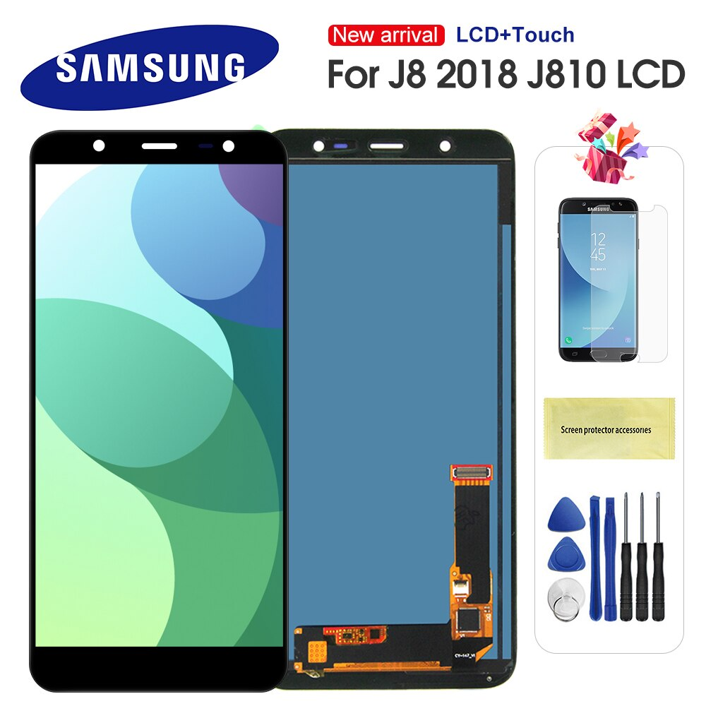 5.9 lcd lcd lcd para samsung j8 2018 j810 lcd j810f j810y display de toque digitador da tela para samsung j8 j810 tela lcd