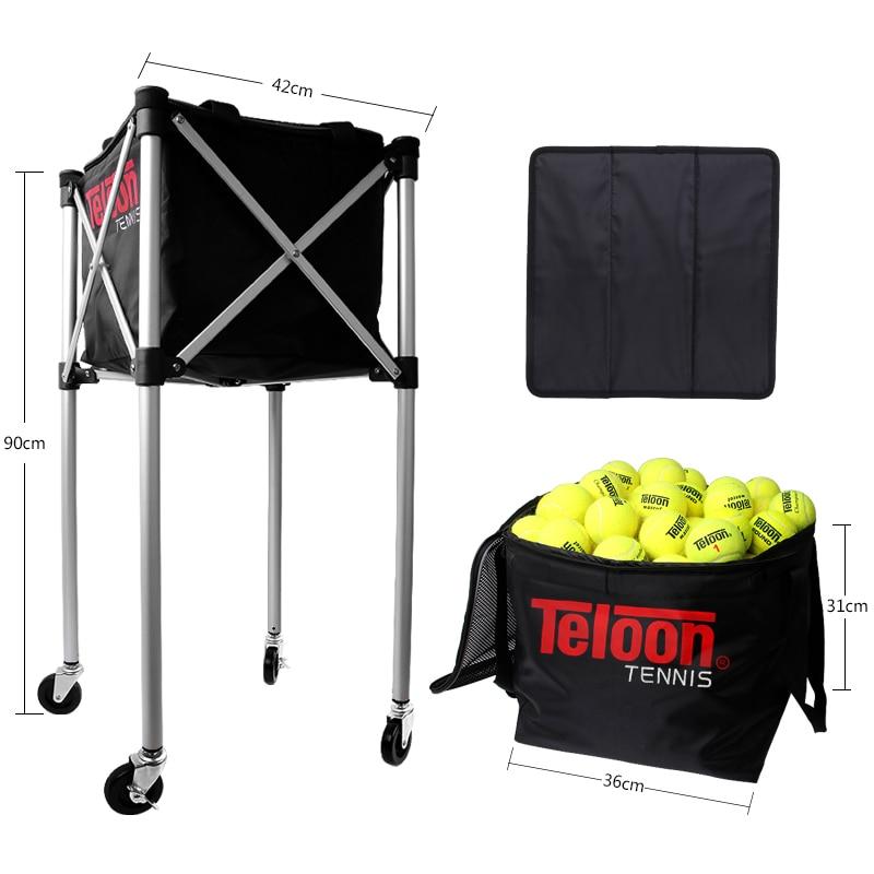 Teloon profesional pelota de tenis a la cesta de gran capacidad, puede contener 180 Uds recolector de pelotas para la formación de K048SPA