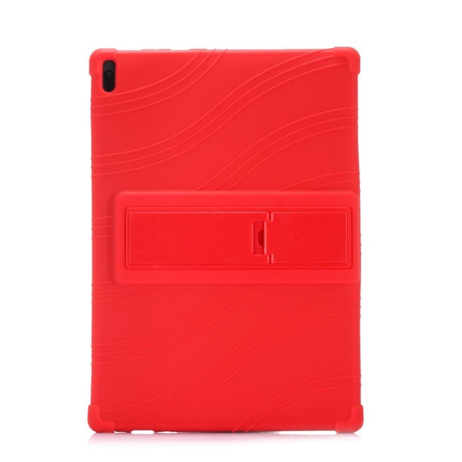 Funda de silicona suave para tableta Lenovo Tab E10 10,1 Funda TB-X104F TB X104F TB-X104L soporte de protección de cuerpo completo plegable + regalo