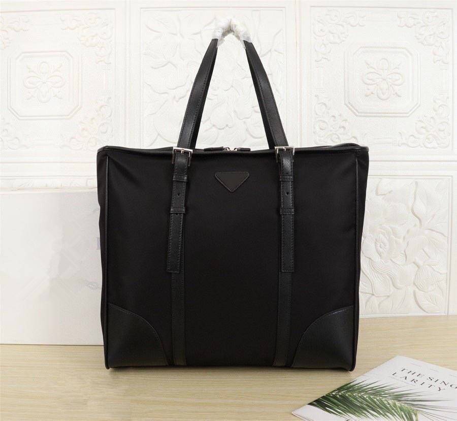 2021 men's black waterproof nylon designer briefcase laptop bag large capacity classic casual office handbag