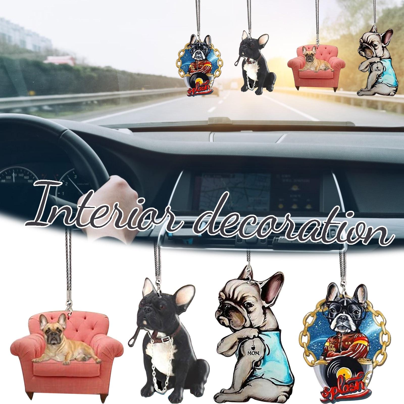 Adorno colgante de perro en 3D para coche, adorno decorativo para asiento,...