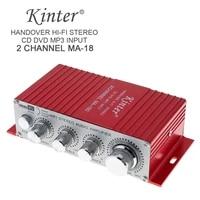 kinter ma 180 mini usb alloy car audio amplifier 2ch stereo hifi amplifier for boat ampred 12v auto power amplifiers