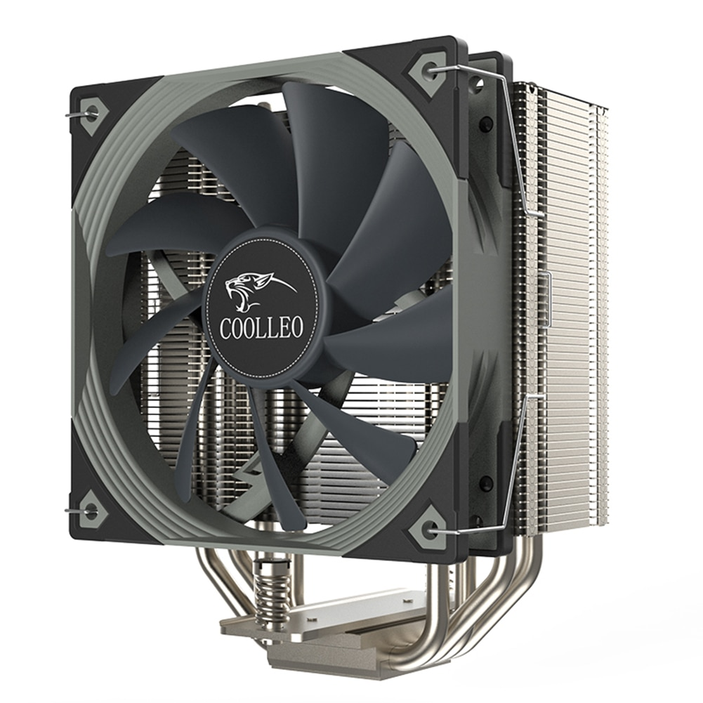 CPU Computer 4 Heat-Pipes PC Computer DC 12V FDB Bearing Cooling CPU Cooler Fan Kit for AMD AM4/LGA 1200 115x