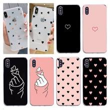 Funda de silicona transparente de amor corazón para iPhone 11 Pro X XR XS Max 7 8 Plus, carcasa suave de TPU, cubierta de mujer trasera para Iphone 11