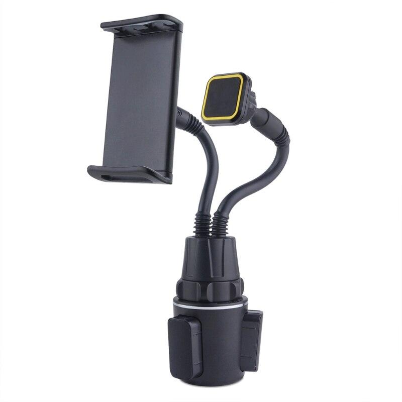متعددة الأغراض سيارة كأس حامل هاتف مزدوج دعم قرص مثبت الهاتف الخلوي قوس