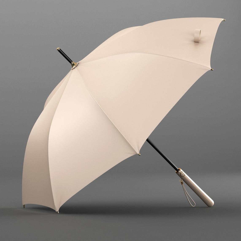Business Big Size Umbrella Long Handle Red Waterproof Umbrella Semi Automatic Windproof Guarda Chuva Living Utensils EI50UA enlarge