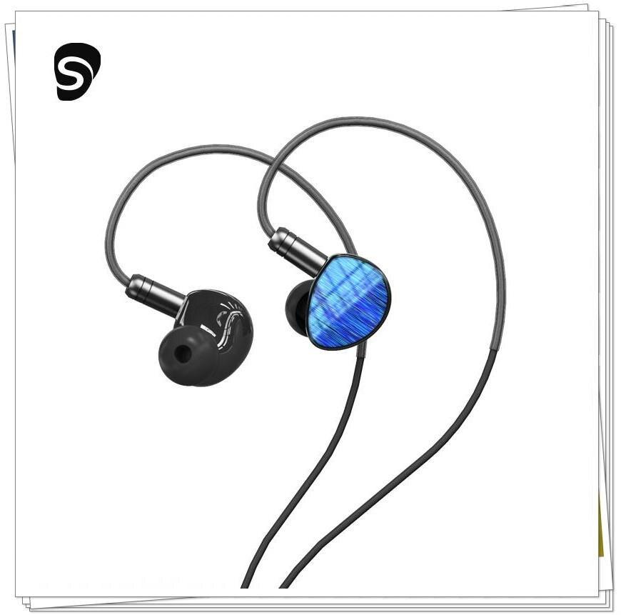 Shuoer Soloist de silicona líquida Kevlar Driver HiFi Monitor de música auriculares In-ear con Cable OCC 6N 2Pin para audiófilos