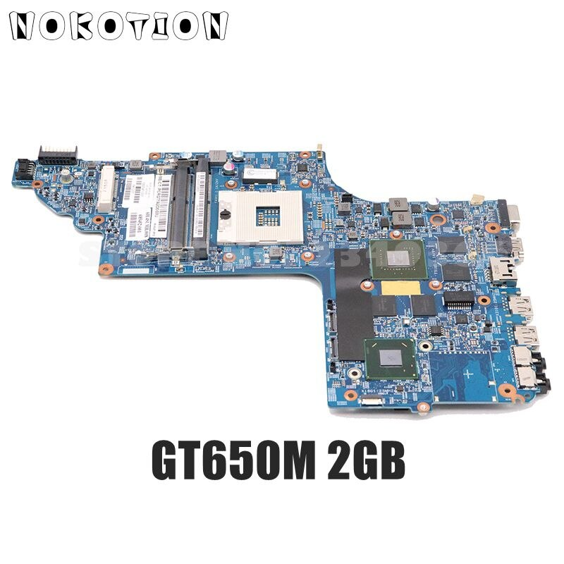 NOKOTION 682040-501, 682040-001 para HP pavilion DV7 DV7T DV7-7000 placa base de computadora portátil de 17 pulgadas HM77 DDR3 GT650M tarjeta de vídeo de 2GB