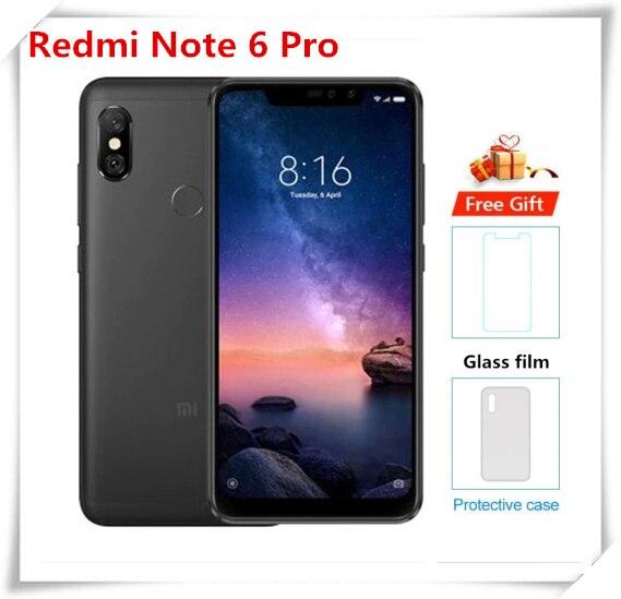 Оригинальный xiaomi redmi note 6 pro смартфон 3 ГБ + 32 Гб мобильный телефон Snapdragon 636 Octa Core MIUI11.0.2 4 аппарат не привязан к оператору сотовой связи 20.0MP мобил...