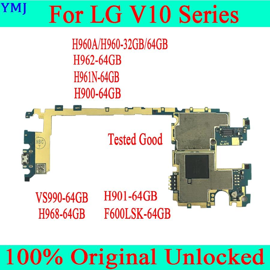 Original desbloqueado Para LG V10 H960A H960 H962 H961N H900 H901 VS990 F600LSK H968 H961 Mainboard Motherboard Com SISTEMA OPERACIONAL Android