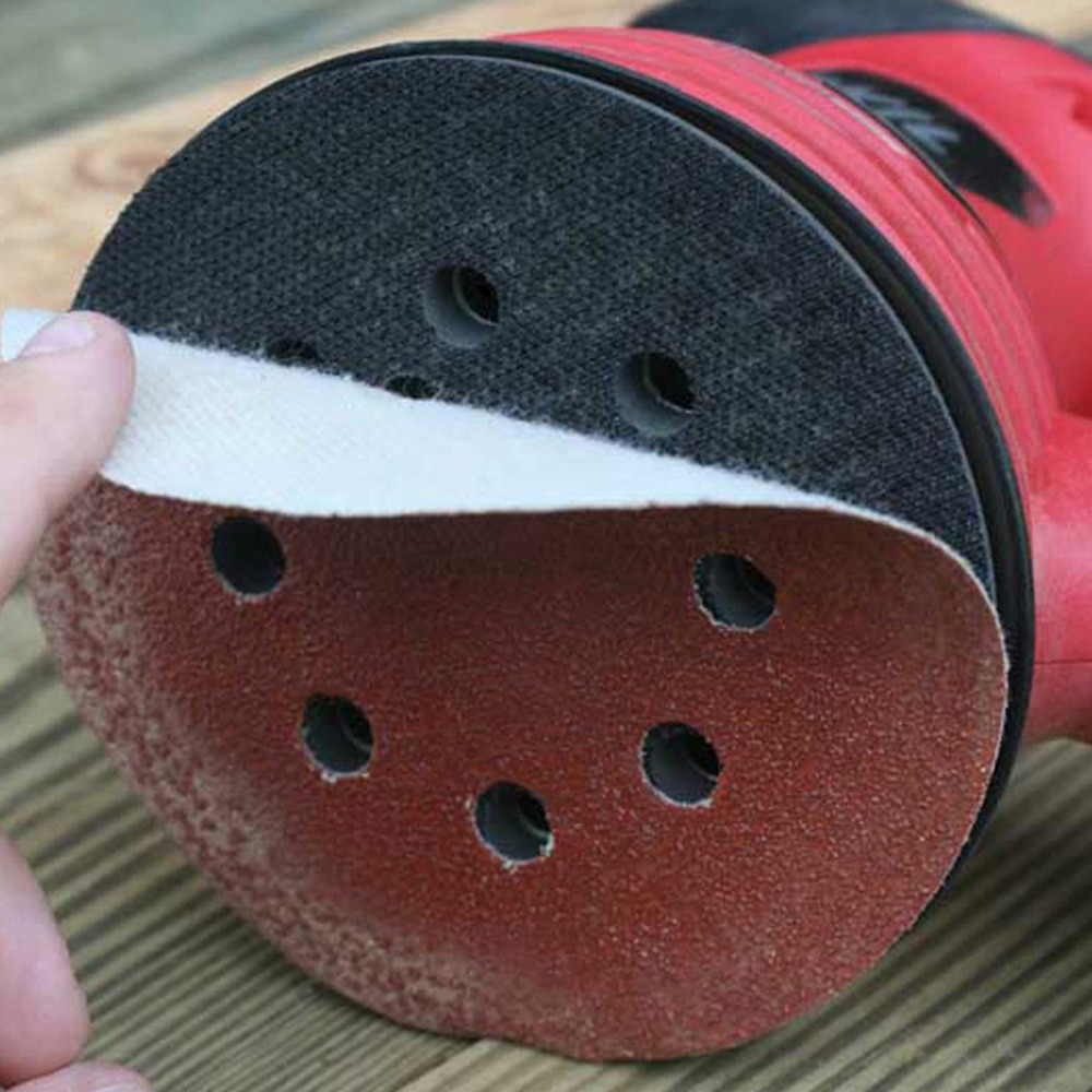 100pcs 125mm carta vetrata forma tonda dischi abrasivi hook loop - Utensili abrasivi - Fotografia 2