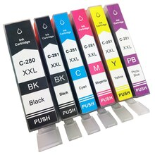 Compatible PGI-280 XXL CLI-281 Ink cartridge for  TS702/TR7520/TR8520/TS6120/TS6220/TS8120/TS8220/TS9120/TS9520/TS9521C printer