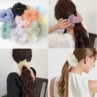 2020big organza hair scrunchie for women elastic hair bands silky satin ponytail holder girls hair tie fashion hair accessories