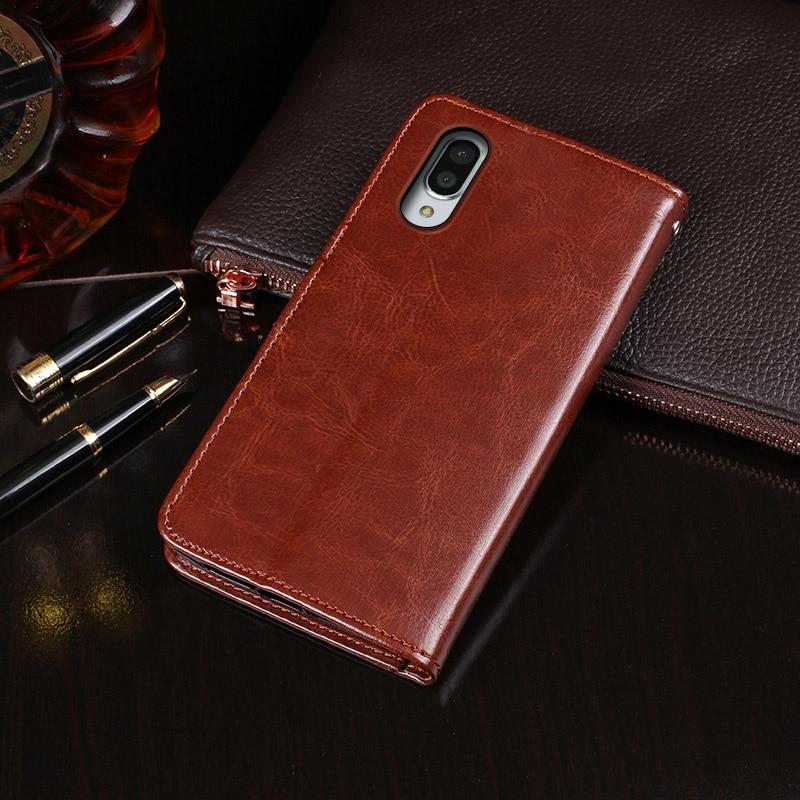 Para Sharp Aquos Sense 3 Plus funda cartera Flip negocios cuero fundas teléfono carcasa para Sharp Aquos Sense 3 Plus accesorios de cubierta