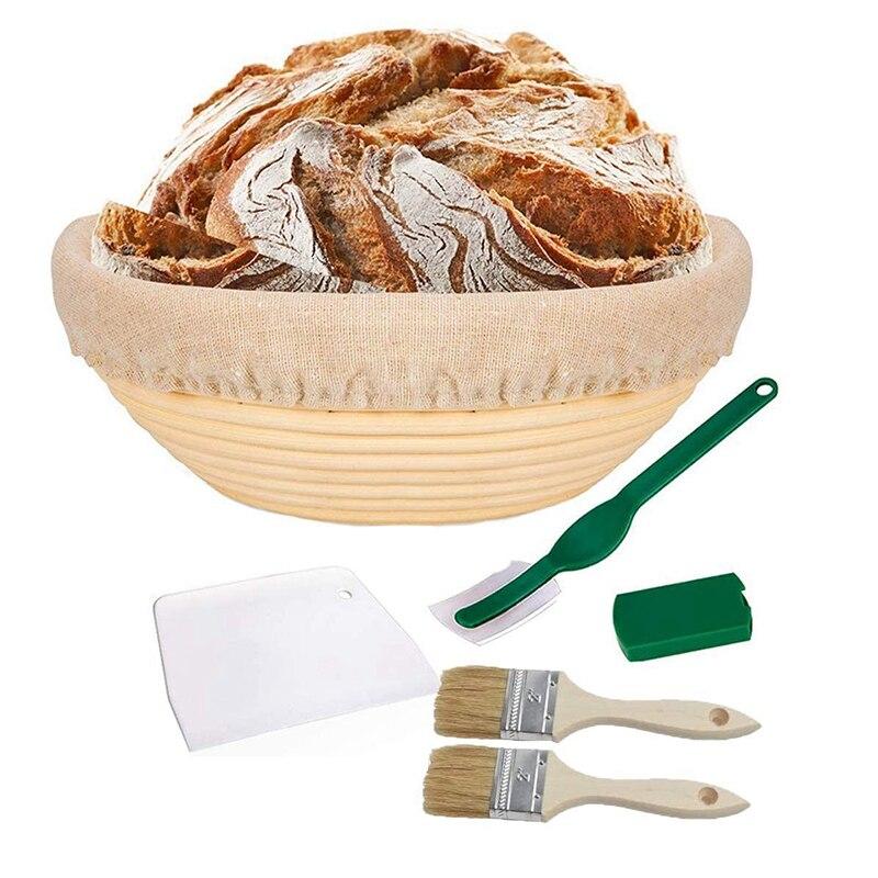 Panier dépreuve Banneton 9 pouces grand panier dépreuve de pain rond bol en rotin naturel pour les boulangers à la maison