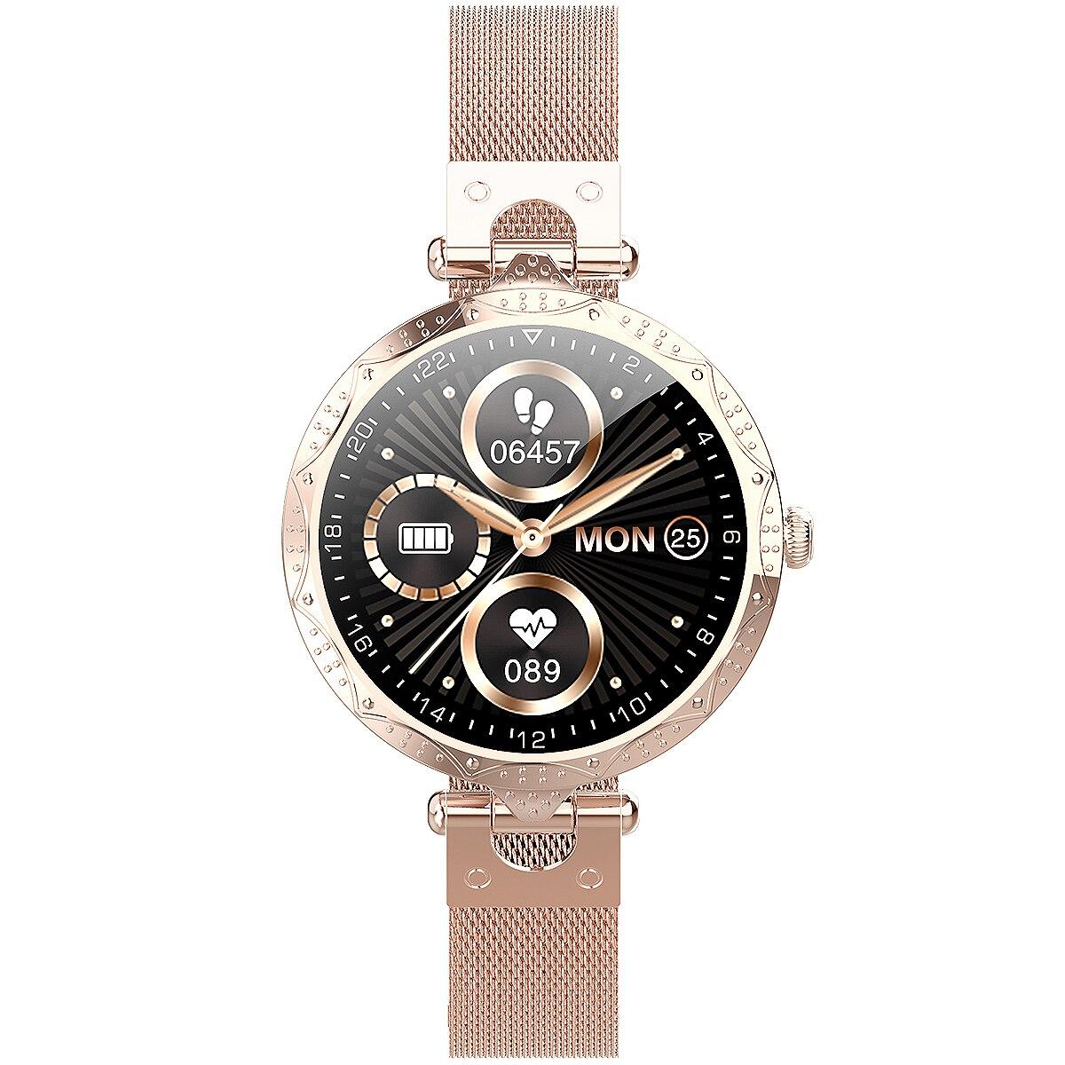 New AK22 Women's Smart Watch, Full Touch, Large Screen, Full Female Health Monitoring, IP68 Waterpro