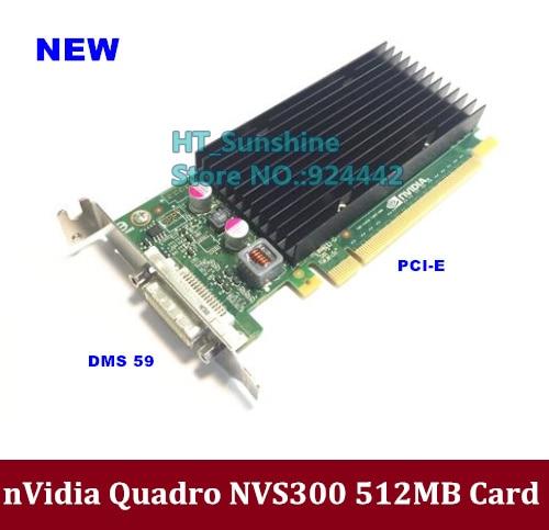 بطاقة رسومات الفيديو Quadro NVIDIA NVS300 512M DDR3 PCIE مع كابل DMS59