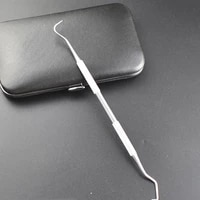 1 piece double end hook stainless steel hookdental equipment probe professional hygiene oral care teeth stone cleaning tools
