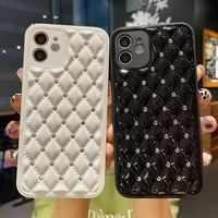 luxury diamond soft silicone phone case for apple iphone 12 11 pro max 7 8 plus x xs xr max 12 mini se2 bling glitter back cover