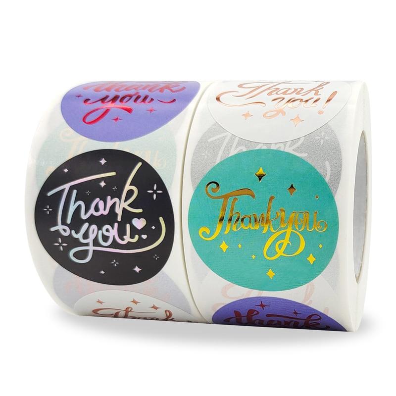 Etiquetas de Gracias pegatina personalizadas, caja de adhesivos hechos a mano, de...