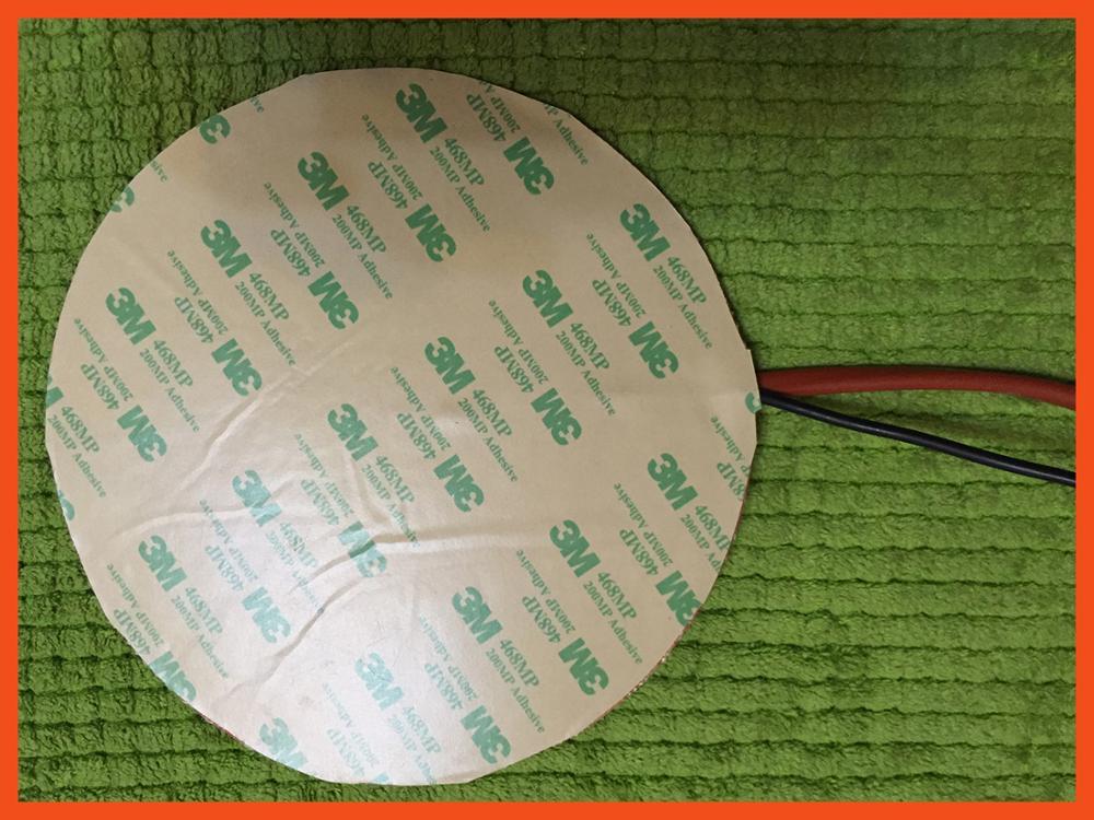 Calentador de silicona de 350 mm 12v 270 w de rotondo, calentador de aguja para kossel pro stampante, instalación 3d con termistor 3m de 100k