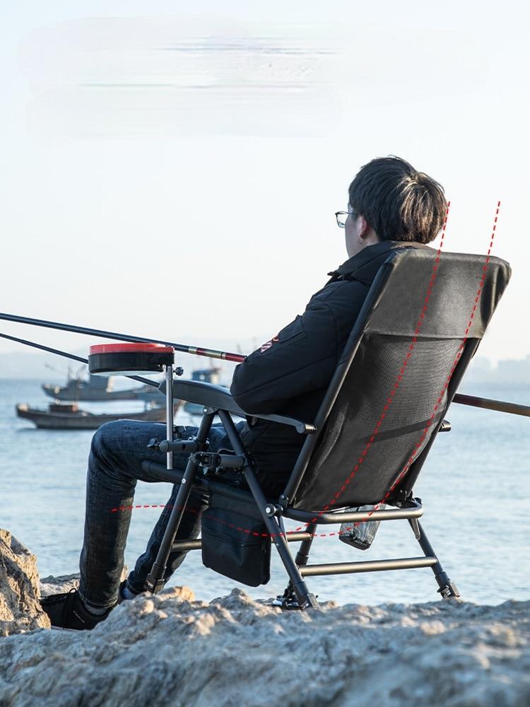 Multifunctional Reclining Fishing Chair European Style Fishing Chair Folding Wild Fishing Seat for All-terrain Table