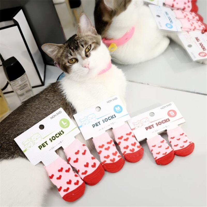 4pcs copati copati nedrseče nogavice hišne ljubke notranje za - Izdelki za hišne ljubljenčke - Fotografija 2