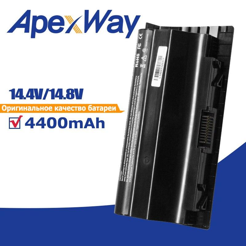 Apexway 4400mAh Celular 14.8V Bateria Do Portátil para Asus G75 8 G75VW G75V3D G75V G75VX G75VM3D G75VM G753D G75VW3D
