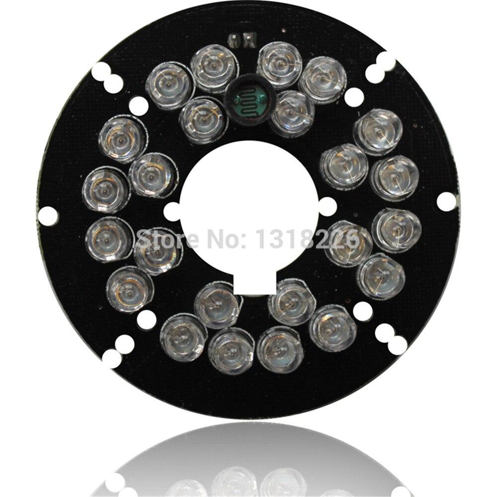 Infrarot licht bord IR LED Board Led-modul 24 Infrarot LEDs 5mm 90 Grad Winkel 850nm Wellenlänge Für Sicherheit CCTV Kamera