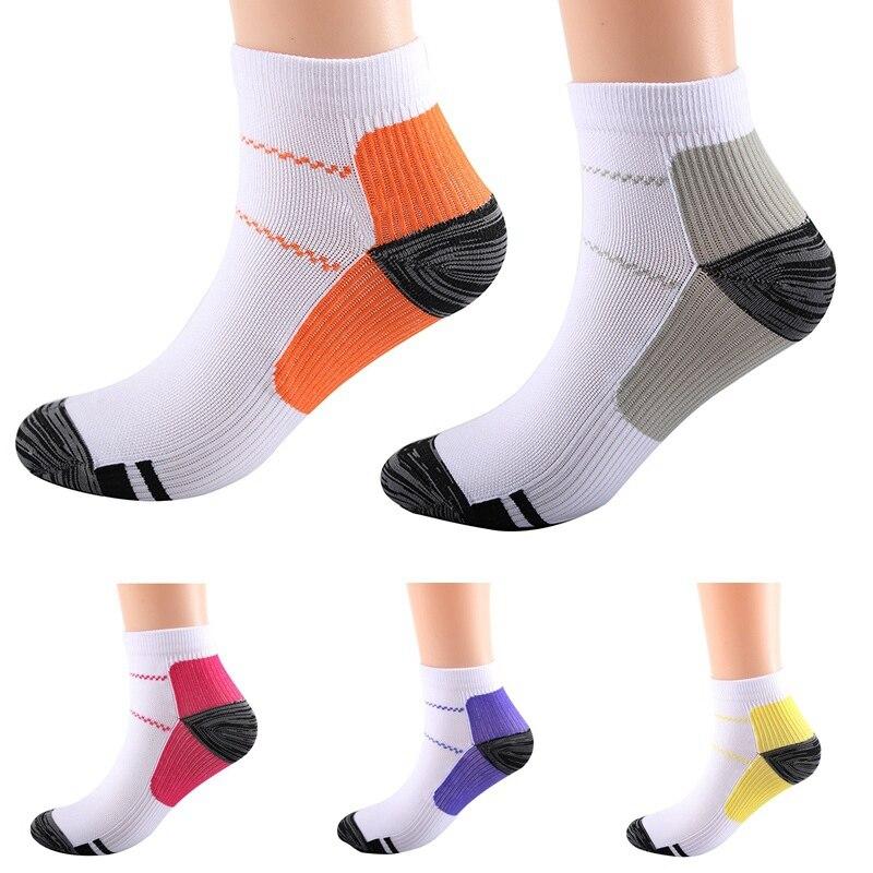 1 paar Atmungs Fuß Kompression Socken Laufen Tennis Sport Socke Für Ferse Spurs Arch Schmerzen
